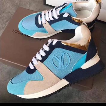 Blue Machine LV Inspired Sneakers