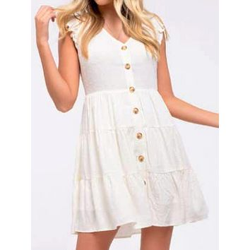 Abigail Dress | Cream