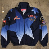 Team USA Champion Olympic Ceremony Jacket Navy (XL)