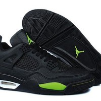 Cheap Nike Air Jordan 4 Men Shoes Temporal Rift by Black Green