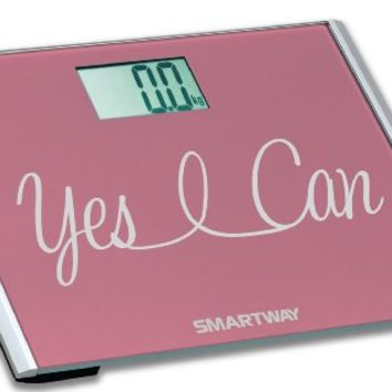 """Digital Bathroom Scale YES I CAN! Motivation Series w/ Extra Wide 440lb Step-On Platform """"2014 Limited Edition"""""""