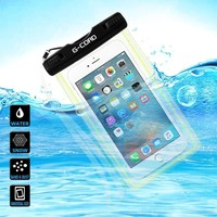 Universal Clear Waterproof Case Protective Cover Pouch Dry Bag for Apple iPhone 6s, 6s Plus, 6, 6 Plus, 5s, 5,Samsung Galaxy Note 3, 2, S6, S6 Edge, S5, S4 S3, HTC One X, Moto X - IPX8 Certified to 100 Feet (Black Lock)