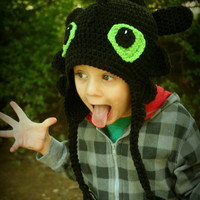 How To Train Your Dragon Inspired Toothless Earflap Hat