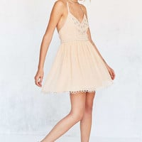 Kimchi Blue Snow Queen Embellished Blush Mini Dress - Urban Outfitters