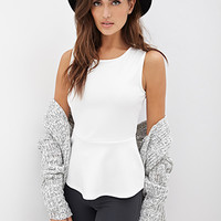 FOREVER 21 Peplum Bow Top