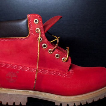 Red Timberlands GS