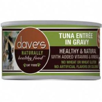 Dave Naturally Healthy Tuna Entree Can Cat Food 3 ounce