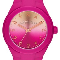 Women's MARC BY MARC JACOBS 'X-Up' Round Silicone Strap Watch, 38mm