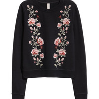 Embroidered Sweatshirt - from H&M