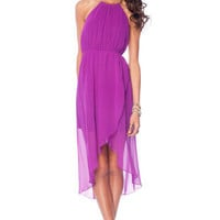 Put a Ring on It Dress in Magenta :: tobi