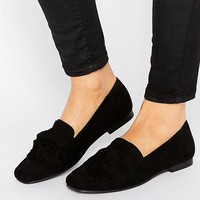 New Look Suedette Loafers at asos.com