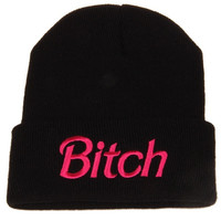 street fashion knitting Bitch hip-hop cap hats beanies (Color: Black) = 1958062404