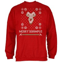 Christmas Merry Krampus Ugly Xmas Sweater Red Adult Sweatshirt