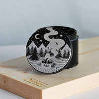 Laser engraved herb grinder | Forever Wild by Topboro