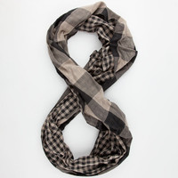 David + Young Mens Infinity Scarf Black/Khaki One Size For Men 25209412901