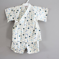 Japanese dragonfly jinbei kimono set baby to toddler fits 12 to 24 months