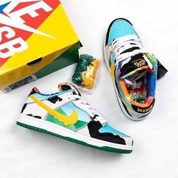 Nike SB Dunk Low Ben & Jerry's Chunky Dunky Fashionable Women Men Leisure Sport Shoes Sneakers