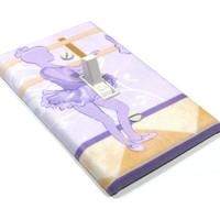 Purple Ballet Light Switch Cover Ballerina Room Decor Girls Bedroom Decoration Switchplate Switch Plate 1305