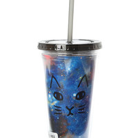 Loungefly Galaxy Cat Acrylic Travel Cup
