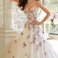 Embellished Sweetheart Tulle Gown by Sophia Tolli