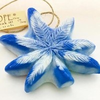 Blueberry Kush Dope on a Rope - Blueberry Pot Leaf shaped Soap on a Rope