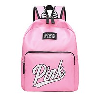 Victoria Pink Fashion New Letter Print Leisure Backpack Bag Pink