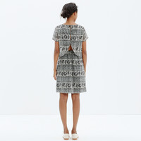 Silk Two-Piece Dress in Woodcut Paisley