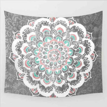 Gray Bohemian Tapestry Colored Printed Decorative Mandala Tapestry Indian 130cmx150cm 153cmx203cm Boho Wall Carpet