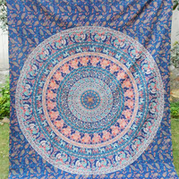 MarubhumiTM Hippie Tapestry, Hippy Mandala Bohemian Tapestries, Indian Dorm Decor, Psychedelic Tapestry Wall Hanging Ethnic Decorative Tapestry, 85 X 55 Inches (Multi Color)