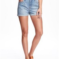 Vintage Hi-Rise Cuffed Shorts for Women
