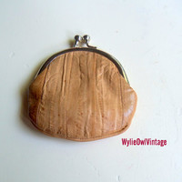 Vintage Genuine Eel Skin Coin Purse
