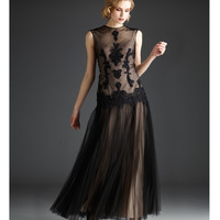 Mignon Fall 2013 - Black Shear Runched Gown