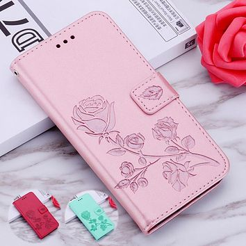 Rose Leather Case for Lenovo Vibe A B C C2 Power A2016 A1010 A2010 A2580 A2860 A1000 A2800 A2020 A6000 A6010 K10A40 Cover Cases
