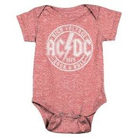 Baby ACDC Bodysuit Red : Target