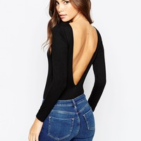 ASOS Scoop Back Body With Long Sleeves