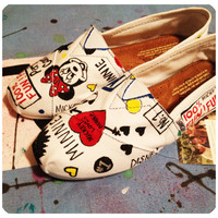 Mickey and Minnie Custom Toms Shoes by CustomTOMSbyJC on Etsy
