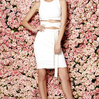 Daily Dos Ivory Two-Piece Dress