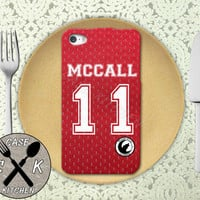 Teen Wolf Inspired Scott Mccall Lacrosse Jersey Beacon Hills Rubber Tough Phone Case For The iPhone 4 and 4s and iPhone 5 and 5s and 5c