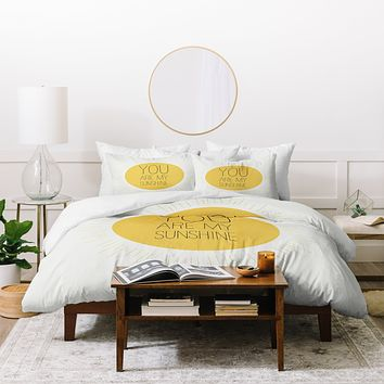 Allyson Johnson You Really Are My Sunshine Duvet Cover