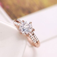 Solitaire Style Cubic Zirconia Diamond Ring
