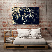 Blue Wall Decor, Abstract Canvas Wall Art, Large Canvas Print 30x40 40x60, Blue and White Home Decor, Bedroom Wall Art, Dreamy Photography