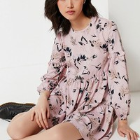 UO Bohemian Tiered Mini Dress | Urban Outfitters