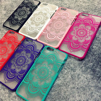 Brand New Beautiful Floral Henna Paisley Mandala Palace Flower Phone Cases Cover For iPhone 5 5G 5S 5C SE 6 6G 6S 4.7 6Plus 5.5