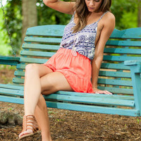 Lovable Ruffle Shorts, Coral