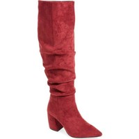 Jeffrey Campbell Red Final Slouch Over the Knee Boot, Size 6