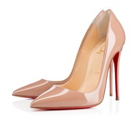 Christian Louboutin Cl So Kate Nude Patent Leather 120mm Stiletto Heel Fw13 - Best Online Sale