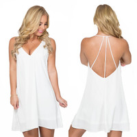 Joy Ride Shift Dress In White