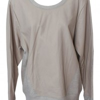 Helmut Lang Sahara Dust Top with Trim Leather