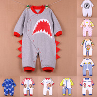 2016 spring autumn baby clothing rompers long sleeve knitted cotton baby boy girl romper newborn clothes rompers