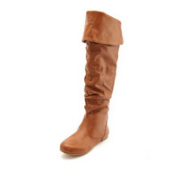 CONVERTIBLE SLOUCHY FLAT BOOT
